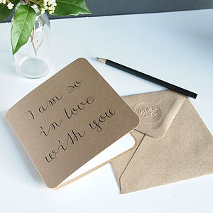 'I Am So In Love With You' Card - wedding, engagement & anniversary cards