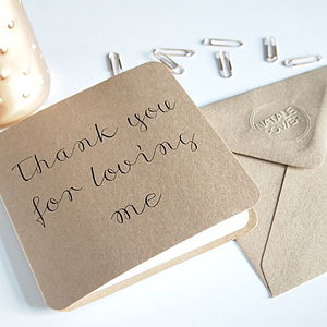 'Thank You For Loving Me' Card - shop by category
