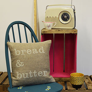 'Bread And Butter' Appliqué Cushion - cushions