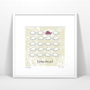 Turtle Print, I Turtley Adore You