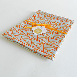 Geometric Triangles Cotton Tea Towel