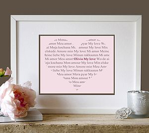 Personalised 'My Love' Heart Print - shop by price