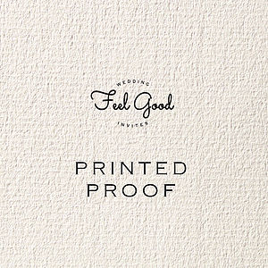 Printed Proof - wedding stationery