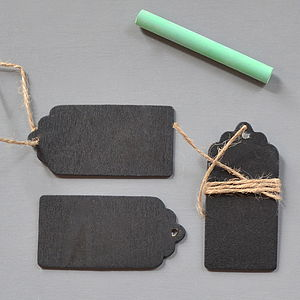 Chalkboard Luggage Label - ribbon & wrap