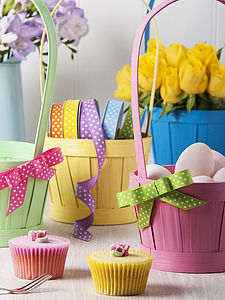 Set Of Four Bamboo Easter Baskets - baskets