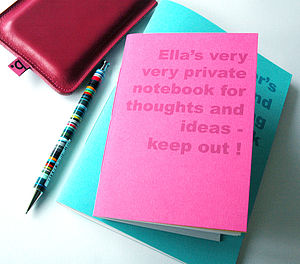 Personalised Notebook - writing