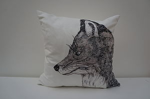 Forbes The Fox Faux Suede Cushion - cushions