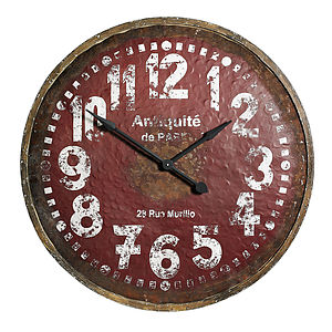 Large Wooden Wall Clock - clocks