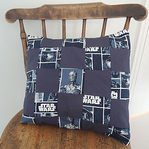 Handmade Star Wars Patchwork Cushion Cover - cushions