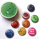 Tin Of Button Magnets