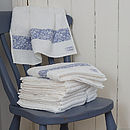 Egyptian Cotton Towels With Floral Appliqué