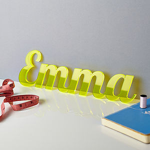 Perspex Desk Names - stationery