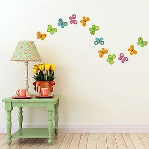 Colourful Butterfly Wall Stickers - children's room accessories