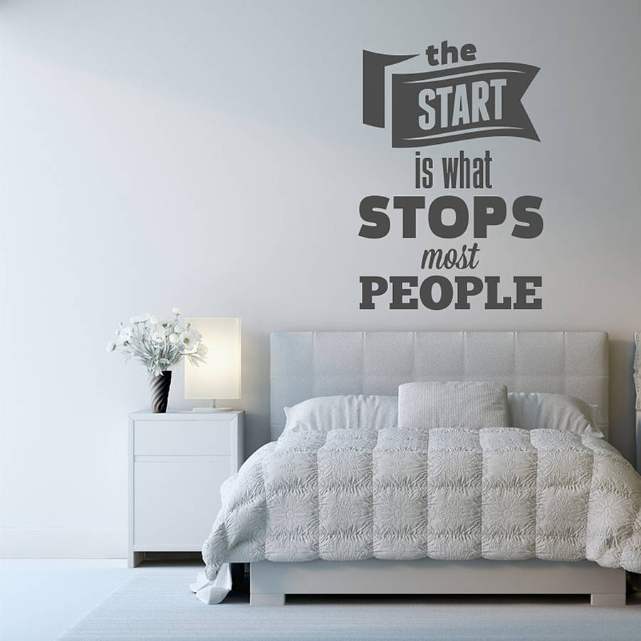 Wall Art Stickers Not On The High Street : Wall art the start is what stops sticker