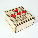 Personalised Valentines Hearts And Kisses Keepsake Box