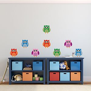 Cute Owl Removable Wall Stickers - baby's room
