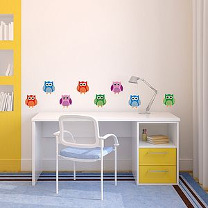 Cute Owl Removable Wall Stickers - bedroom