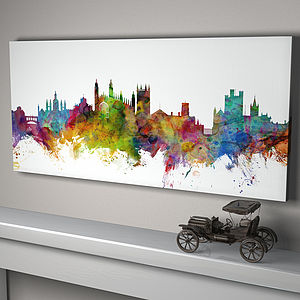 Cambridge England City Skyline - maps & locations