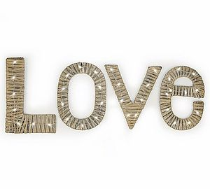 Willow LED 'Love' Letters - decorative letters