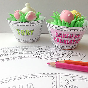 Colour In Easter Cupcake Wrappers