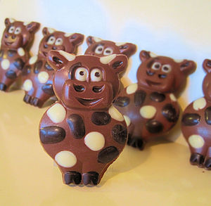 Chocolate Cow Wedding And Party Favours
