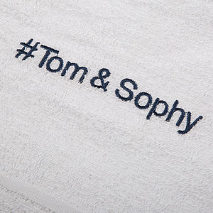 Personalised Towels - bed, bath & table linen