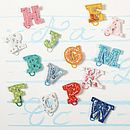 Set Of Six Initial Paper Clips
