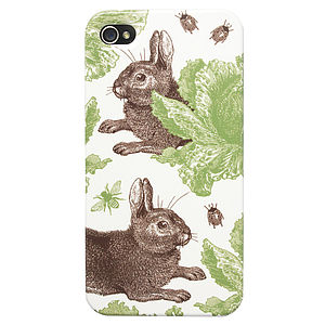 Rabbit And Cabbage iPhone Five/ Five S Case