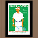 Personalised Men's Tennis, Vintage Style Sports Print