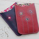 Personalised Leather Daisy Phone Cover