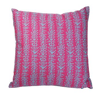 Butterfly Effect Cushion Claret