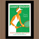 Personalised Sports Print: Ladies Vintage Style Tennis