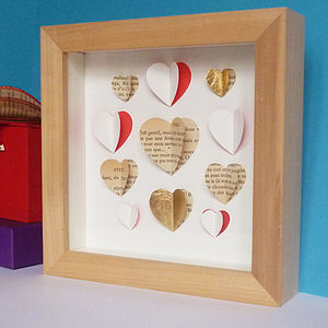 Bespoke Small Heart Collection Artwork - living room
