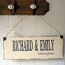 Vintage Style Personalised Valentine's Sign