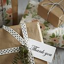 Eight Hand Stamped Thank You Gift Tags