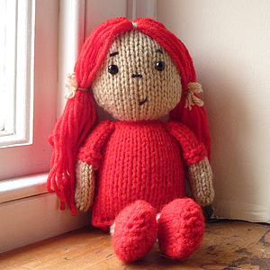 Personalised Dolly Knitting Kit - toys & games