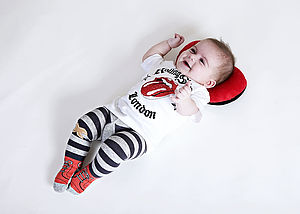 High Top Stripe Baby Tights