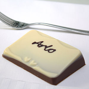 10 Personalised Chocolate Place Name Favours - wedding favours