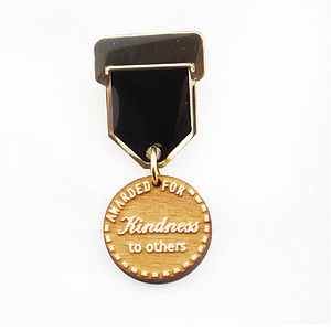 'Kindness' Champ Badge Medal Pin