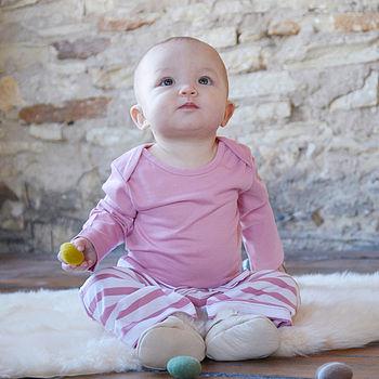Fine Organic Merino Wool Baby Top