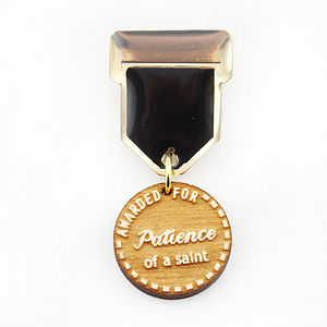 'Patience' Champ Badge Medal Pin