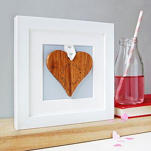 Personalised 'Loves' Framed Heart - love tokens