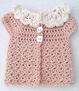 Handmade Cotton Baby Sleeveless Cardigan - clothing
