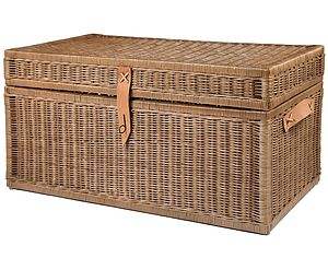 Wicker Storage Trunk - boxes, trunks & crates