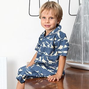 Dinosaur Blue Short Set
