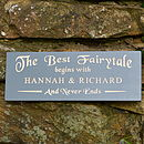 Personalised Engraved Romantic Fairytale sign