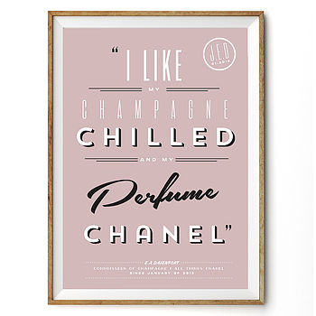 'I Like My…' Personalised Favourites Print