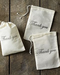 Three Hand Stamped 'Thank You' Gift Bags - favour bags, bottles & boxes