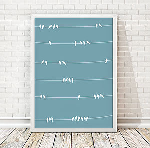 Birds On Wire Print