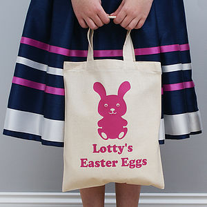 Personalised Children's Easter Shopper Bag - easter egg hunt